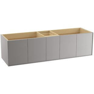 Compare Jute™ 72 Vanity Base Only with 4 Doors and 1 Split Drawer By Kohler