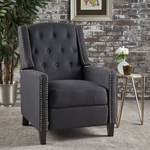 black fabric recliner wayfair
