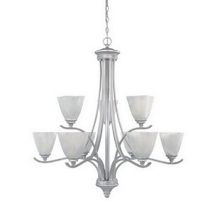 Holm 9-Light Shaded Chandelier by Charlton Home