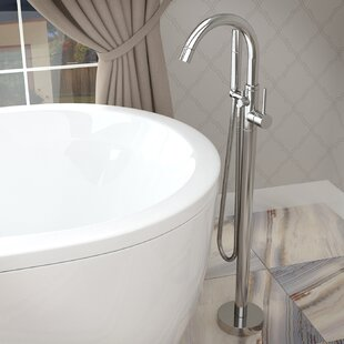 Fantastic Double Handle Floor Mounted Claw Foot Bathtub Faucet With Hand Shower Cjindustries Chair Design For Home Cjindustriesco
