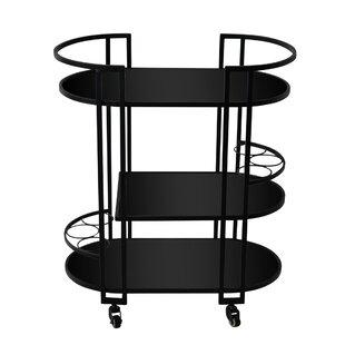 Alanson Metal 3 Tier Bar Cart