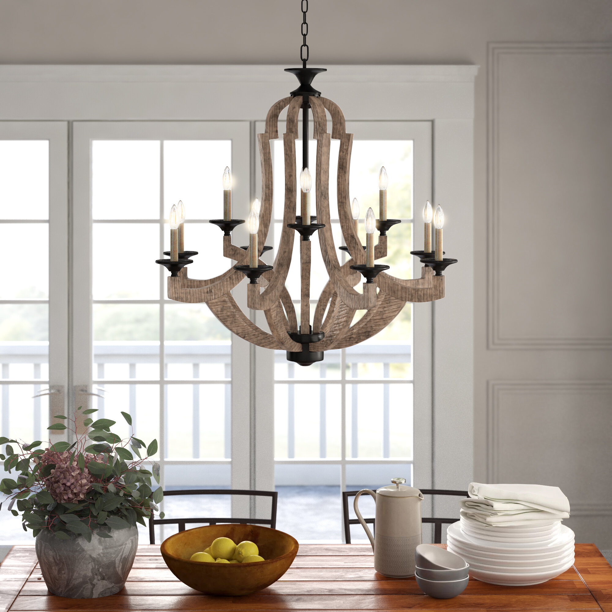 Oversized Greater Than 35 Wide Rustic Chandeliers You Ll Love In 2021 Wayfair
