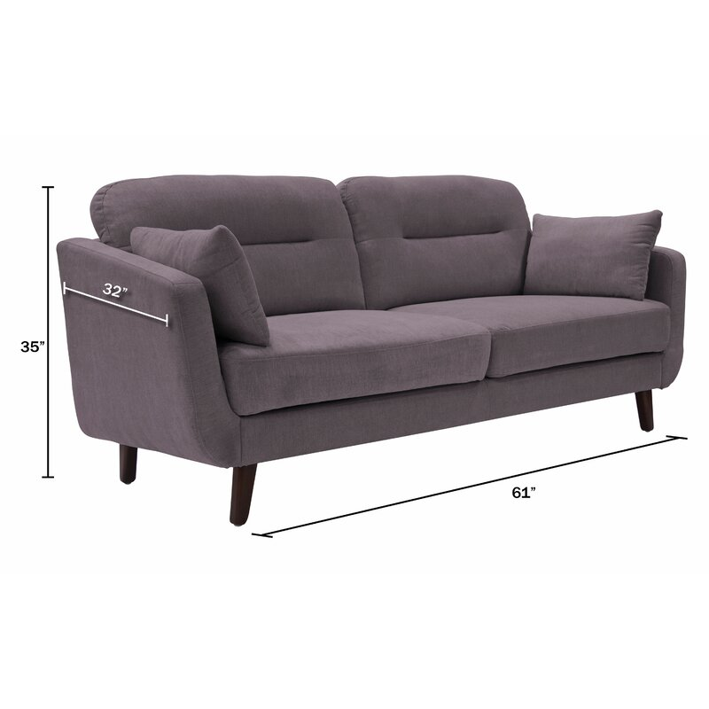 Elle Decor Chloe Mid-Century Modern Sofa & Reviews   Wayfair