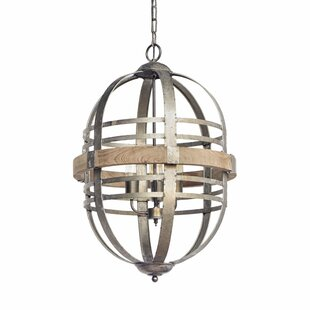 Laurel Foundry Modern Farmhouse Fairfield 3-Light Geometric Chandelier