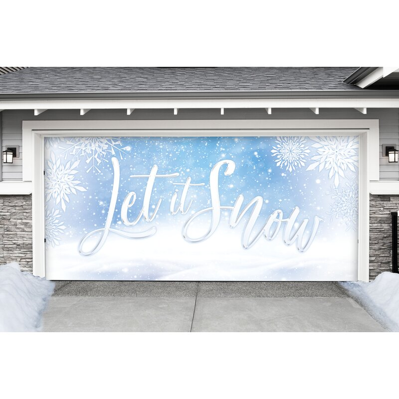The Holiday Aisle Let It Snow Door Mural With 192 W Wayfair
