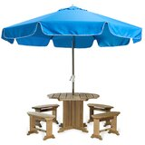 Java Teak 10 Drape Umbrella