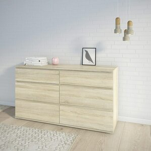 Karev 6 Drawer Wood Double Dresser by Zipcode Design