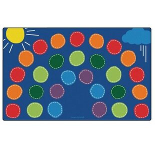 Best Choices Rainbow Seating Area Rug By Carpets for Kids Premium Collection