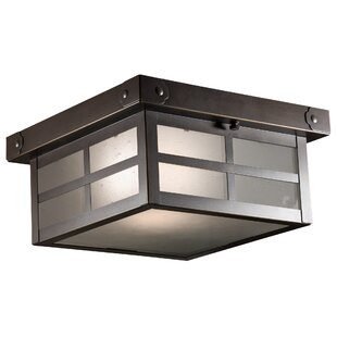 Millwood Pines Wester 1-Light Flush Mount