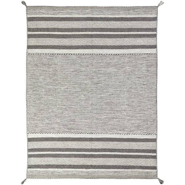 Union Rustic Phillipston Granite Hand Knotted Cotton Gray Area Rug Reviews Wayfair