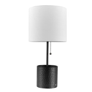 amazon plug usb port com with nickel outlet and table utility metal nikola colby dp lamp brushed ac desk