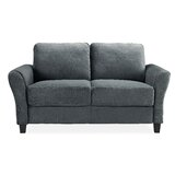 Celestia Microfiber / Microsuede 56.3 Flared Arms Loveseat by Andover Mills