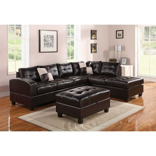 Koontz Living Room Sectional with Ottoman