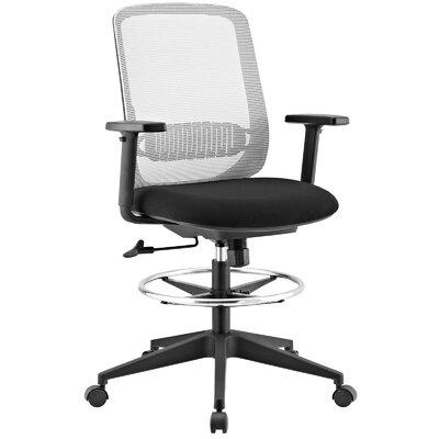 Eindhoven Ergonomic Mesh Drafting Chair Color: Gray by Brayden Studio