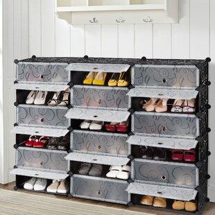 Rebrilliant 18 Pair Shoe Storage Cabinet