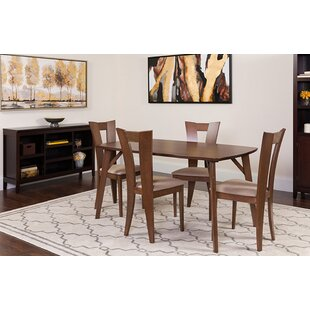 Moana 5 Piece Solid Wood Dining Set by Ebern Designs