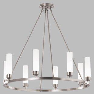 ILEX Lighting Poehlmann 8-Light Shaded Chandelier