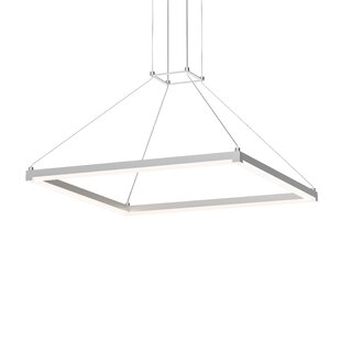 Poythress Modern LED Hardwired Square/Rectangle Pendant by Orren Ellis