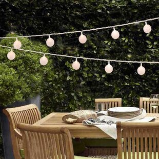 Turn on the Brights Hayley Round Paper LED 10-Light Lantern String Light