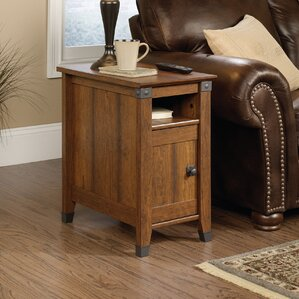 Newdale End Table With Storage. Coffee Oak Washington Cherry
