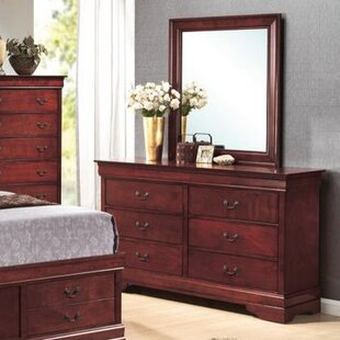 Darby Home Co Garlington 6 Drawer Double Dresser with Mirror Image