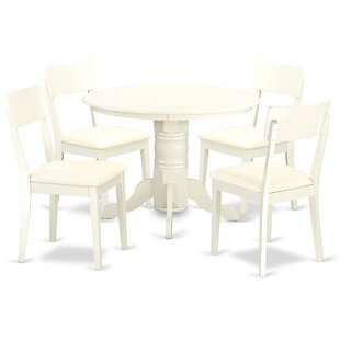 Sherlock 5 Piece Breakfast Nook Solid Wood Dining Set by August Grove Herry Up