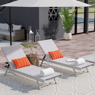 Orren Ellis Faizan Aluminum Frame Chaise Lounge (Set of 2)
