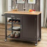 Yemina Kitchen Cart by Gracie Oaks