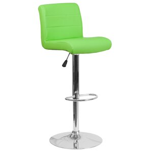Cavanaville Adjustable Height Swivel Bar Stool by Wade Logan