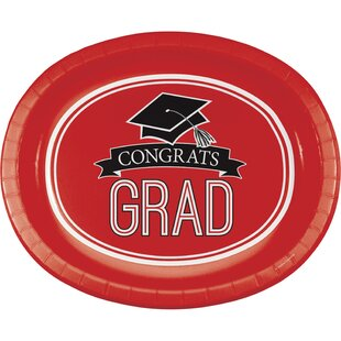 Graduation School Spirit Paper Dinner Plate (Set of 24)