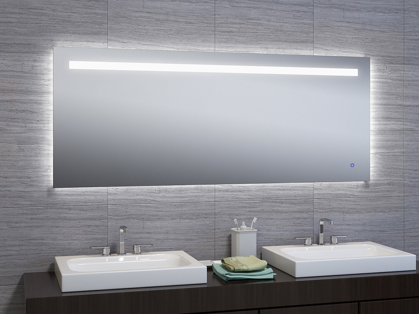 Ivy Bronx Jimerson Modern Contemporary Beveled Lighted Mirror Reviews Wayfair