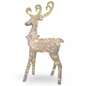 crystal standing deer christmas decoration - Outdoor Christmas Reindeer Decorations Lighted