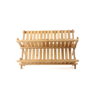 Mind Reader Bamboo Drying Dish Rack