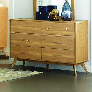 Langley Street Garvey 6 Drawer Double Dresser