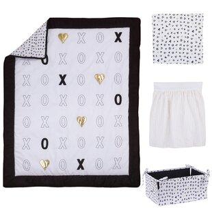 Read Reviews Kabir XOXO 4 Piece Crib Bedding Set ByHarriet Bee