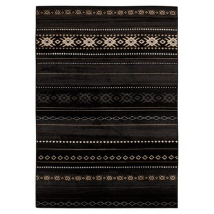 Great Price Haworth Black Area Rug By Loon Peak