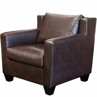 Red Barrel Studio Frahm Leather Club Chair