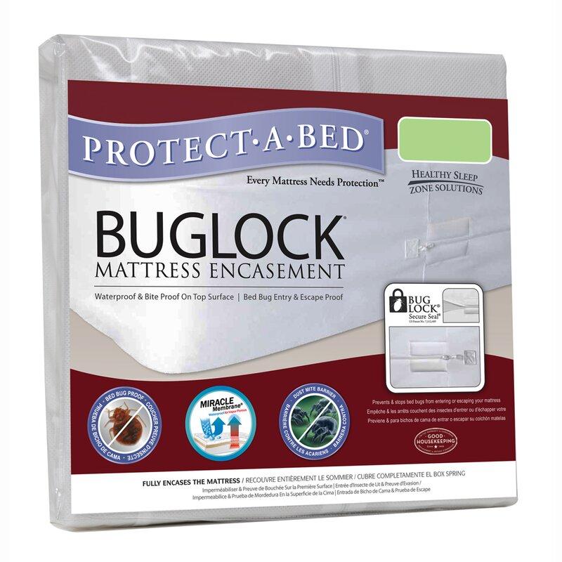 buglock bed bug proof encasement waterproof mattress protector - Bed Bug Protector