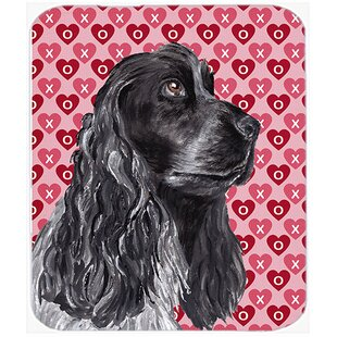 Cocker Spaniel Valentine's Love Rectangle Glass Cutting Board By The Holiday Aisle