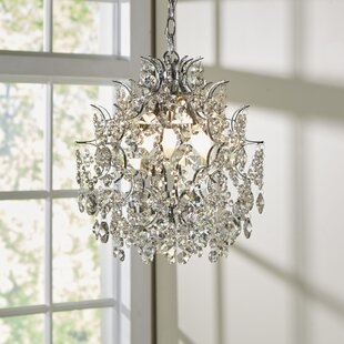 Clea 3-Light Crystal Chandelier by Willa Arlo Interiors