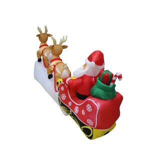 Santa Claus Reindeer Sleigh Christmas Inflatable
