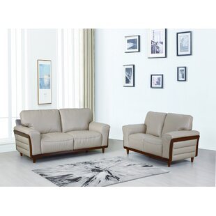 Coupon Toussaint 2 Piece Leather Living Room Set by Latitude Run Reviews (2019) & Buyer's Guide