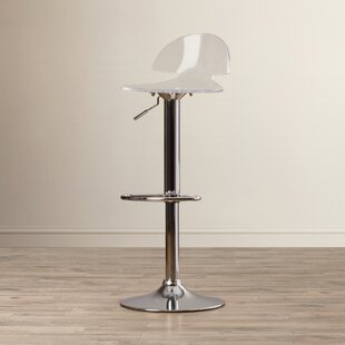 Pacheco Adjustable Height Swivel Bar Stool Wade Logan