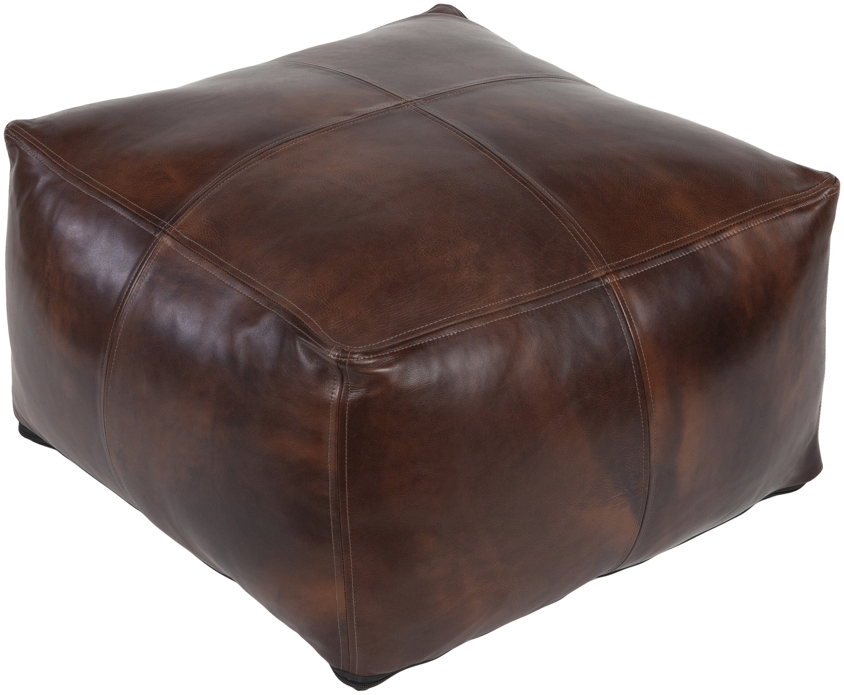 Brower 22 Leather Square Pouf Reviews Allmodern