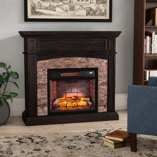 Alcott Hill Contreras Boxwood Corner Infrared Electric Fireplace