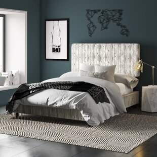 Buhr Linen Upholstered Panel Bed by Mercury Row