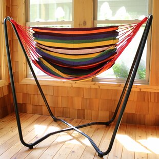 Krystal 2-Point Chair Swing and Space-Saving Hanging Cotton Chair Hammock