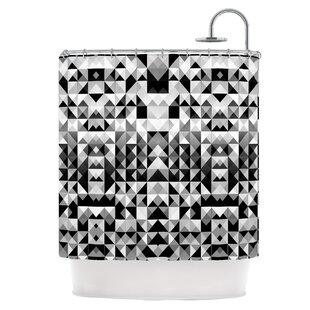 Geometrie Black & White Single Shower Curtain