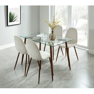 Madonna Contemporary 5 Piece Dining Set by Wrought Studio