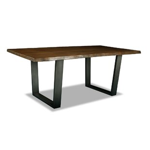 Bullen Solid Wood Dining Table Union Rustic